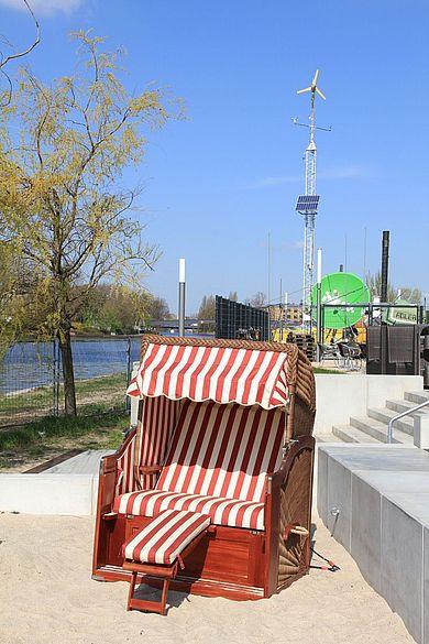 Strandkorb an der HTW Berlin